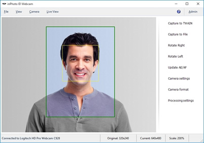 facial detection for identification photo